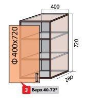 Модуль №3 в 400-720 верх кухни  Колор-микс