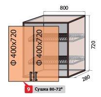 Модуль №9 в 800-720 верх кухни  Колор-микс