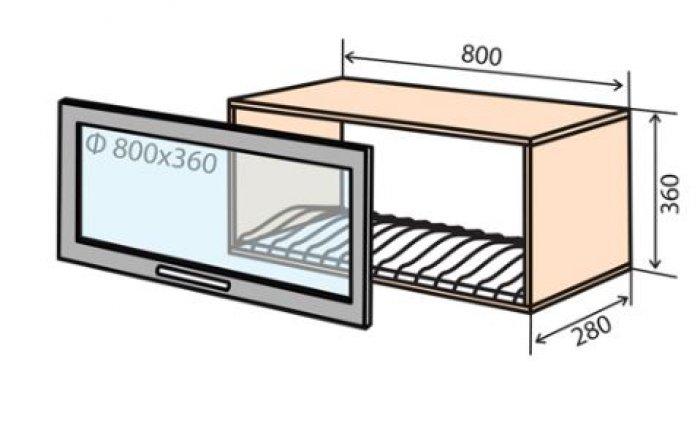 Модуль №17 вс 800-360 верх кухни  Колор-микс