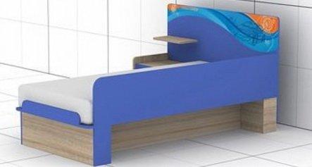 Кровать L-16,17 Индиго