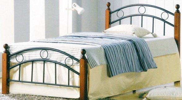 Односпальная кровать кованая UF-9001 Green Line
