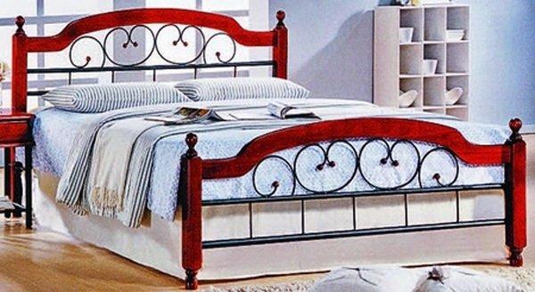 Двуспальная кровать кованая UF-9121 160 x 200 Green Line
