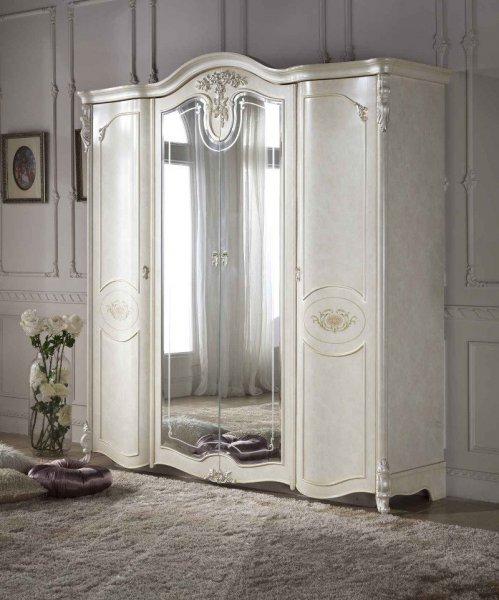Шкаф 4д с 2-мя зеркалами Афродита - МДФ Green Line