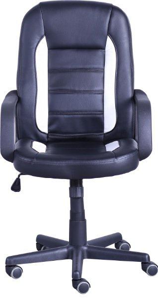 Офисное кресло Дрифт (1699) к/з PU черный/белые вставки