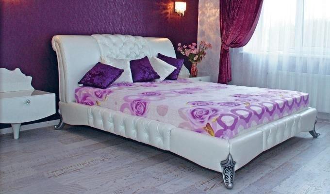 Двуспальная кровать Леда резные ножки 160х200см