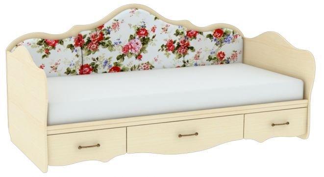 Кровать односпальная с накладками Прованс