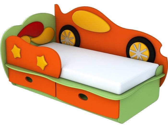 Кровать Машинка с бортиком Облачко Лунная Сказка
