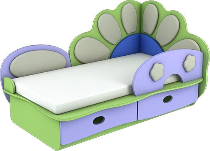 Кровать Ромашка с металлическим бортиком Лунная Сказка