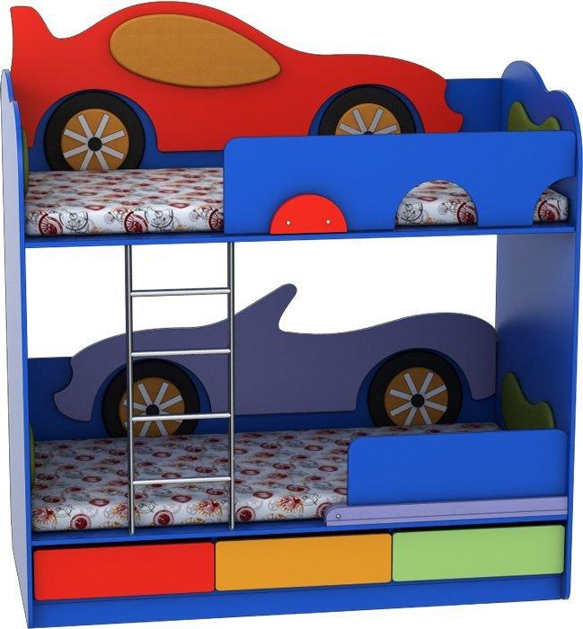 Кровать двухъярусная Кабриолет-Машинка Лунная Сказка