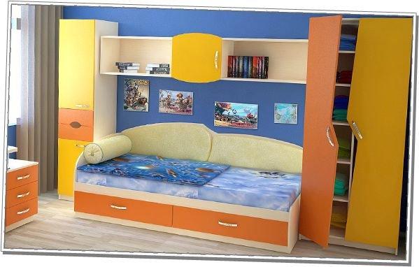 Детская спальня №6 Планета Луна