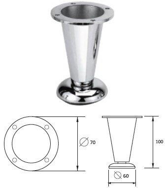 Опора металлическая NZ-0906 хром