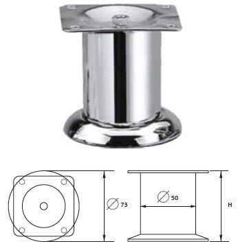 Опора металлическая MZ-1412 хром