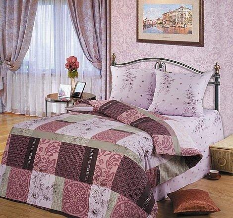 Двухспальный комплект постельного белья Альпия