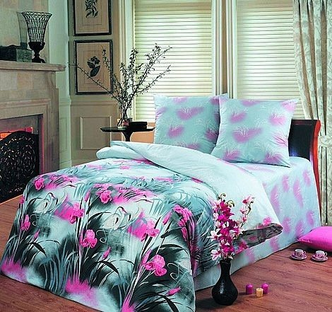 Двухспальный комплект постельного белья Цапля