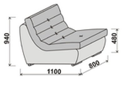 Модуль углового дивана Инфинити 1