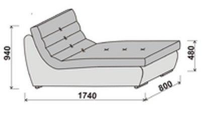 Модуль углового дивана Инфинити шезлонг