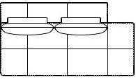 Модуль Дпв112/б/я для модульного дивана Белиссимо