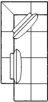 Модуль ЛОтт, ПОтт 102 б/я для модульного дивана Белиссимо