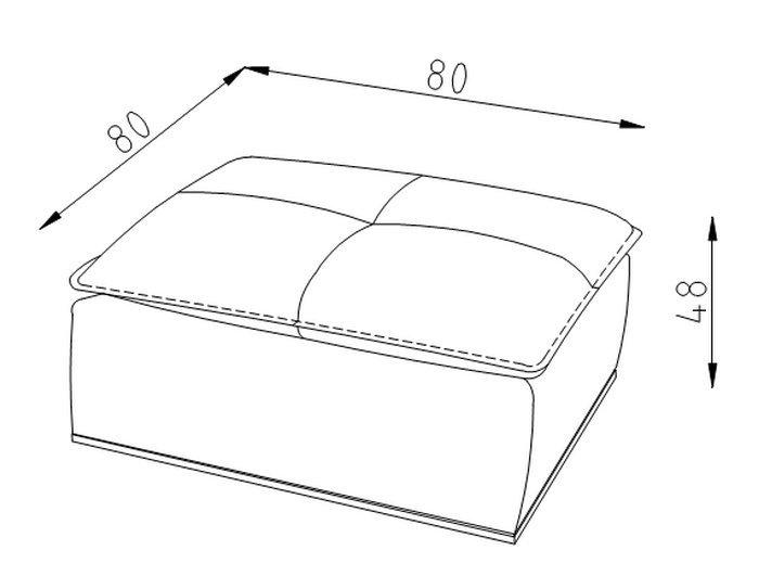 Пуф для модульного дивана Белиссимо