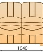 Модуль 2С104 для модульного дивана Манхетен