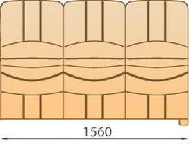 Модуль 3С156 кожаного модульного дивана Манхетен
