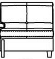 Модуль 1С85 кожаного модульного дивана Моррис
