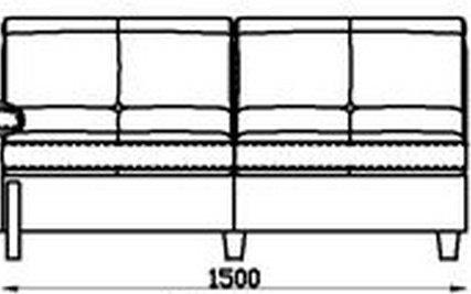 Модуль 2С150 кожаного модульного дивана Моррис