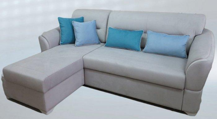 Кожаный угловой диван Клер