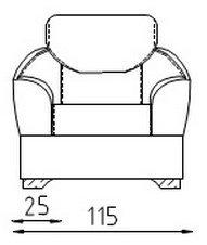 Кожаное кресло Клер