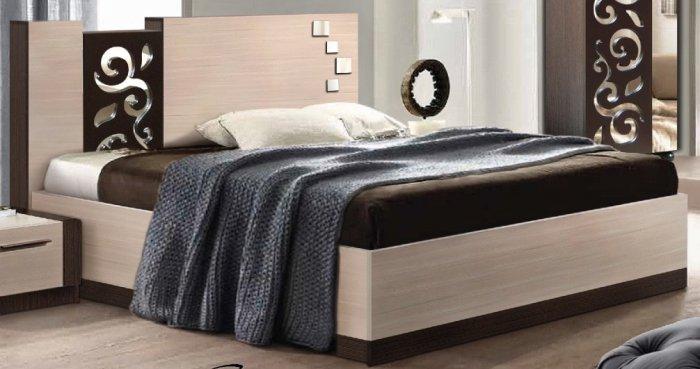 Двуспальная кровать 185 Сага (без каркаса)