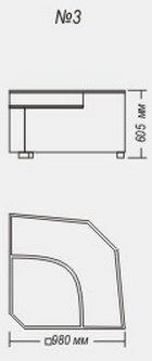 Модуль угол с баром №3 к диван у Династия