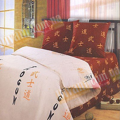 Двухспальный комплект постельного белья Самурай