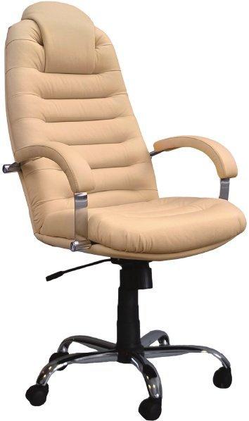 Кресло руководителя Tunis P steel chrome (с подголовником)