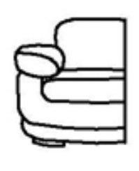 Модуль Б-1С104 к диван у Тироло