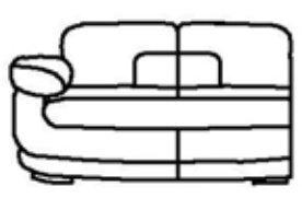 Модуль Б-2С185 для кожаного дивана Тироло