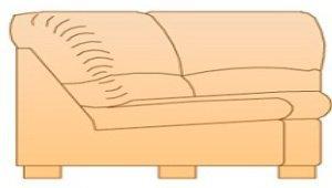 Модуль Ур108 для кожаного дивана Калифорния