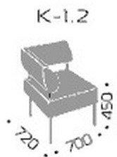 Модуль дивана Квадро 1.2