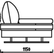 Модуль 1С66 к диван у Римини