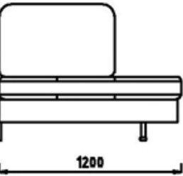 Модуль Л1С112 (спинка 660 мм) к диван у Римини