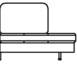 Модуль Л1С122 (спинка 760 мм) к диван у Римини