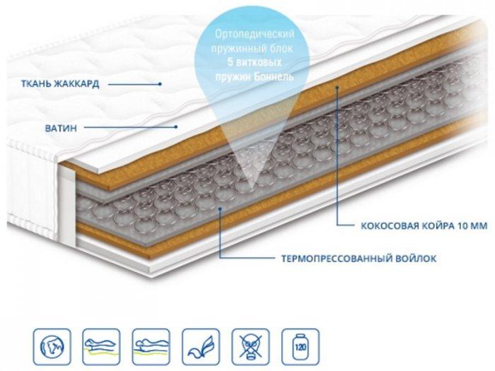 Двуспальный матрас Чемпион Кокос 160x200 см