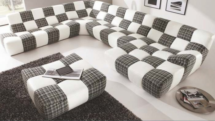 Кожаный модульный диван Бостон