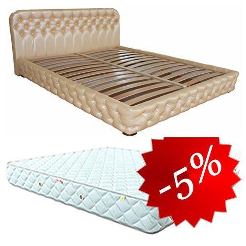 Комплект кровать Бакарди + матрас Extra Latex 160х200