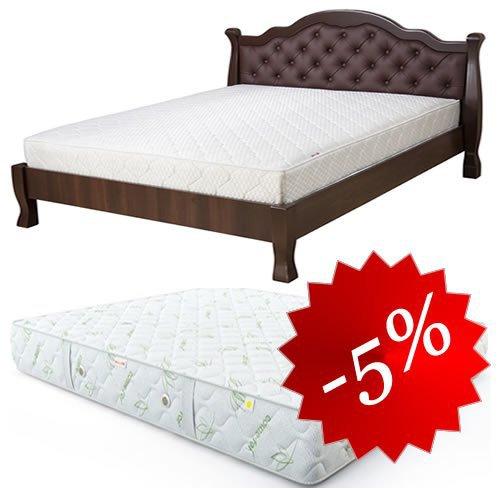 Комплект: кровать Татьяна-элегант Люкс + матрас Делайт 160х202