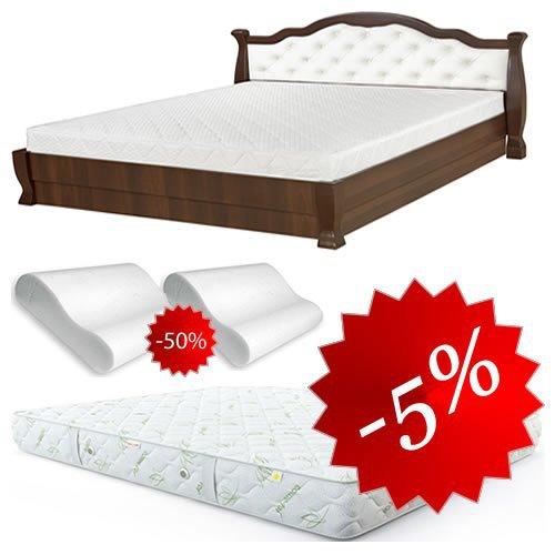 Комплект: кровать Татьяна-элегант люкс с подъемным механизмом + матрас Daily 2in1 160х200, 2 подушки Orthobalance за пол цены