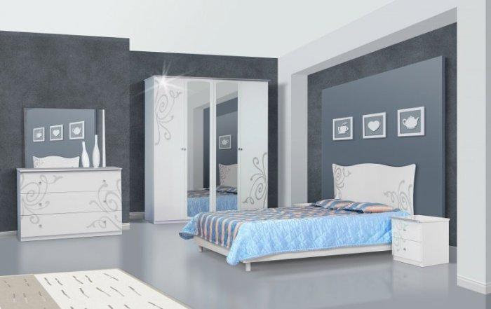 Модульная спальня Фелиция с 4-х дверным шкафом