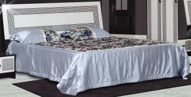 Двуспальная кровать 2-сп (без матраса. ламель) Бася Олимпия