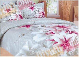 Двухспальный комплект постельного белья Wonderline -11WL Grey
