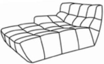 Модуль 1,2 к диван у Бостон