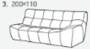 Модуль 3,4 к кожаному диван у Бостон